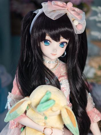 BJD Wig Girl Black Long Hair for SD Size Ball-jointed Doll