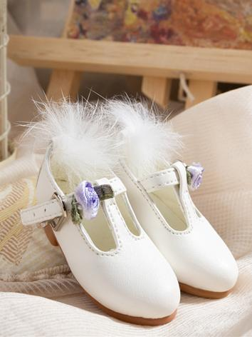 Bjd Girl White Shoes for MS...