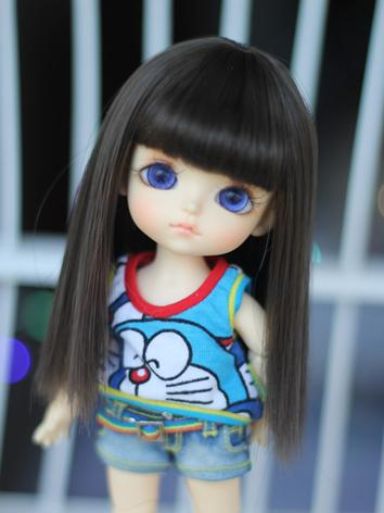 BJD 1/8 Wig Girl Black Long...