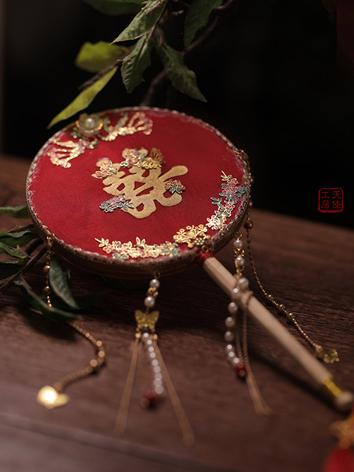 BJD 1/3 Palace Red fan JE320031 for SD/SD16 Ball-jointed doll