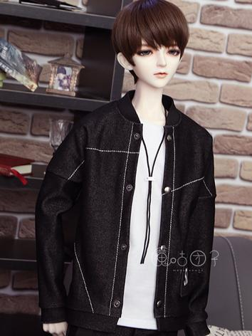 BJD Clothes Boy Black Jacket Coat for 70cm/SD/MSD Ball-jointed Doll
