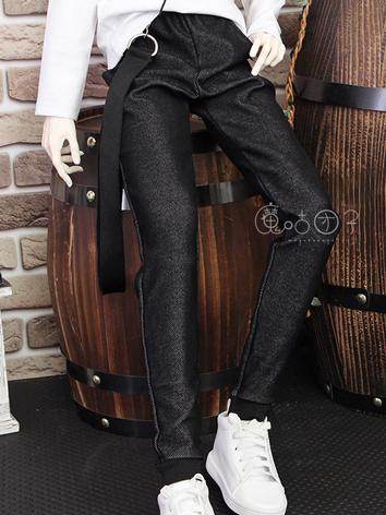 BJD Clothes Boy Black Trousers for 70cm/SD/MSD/YOSD Ball-jointed Doll