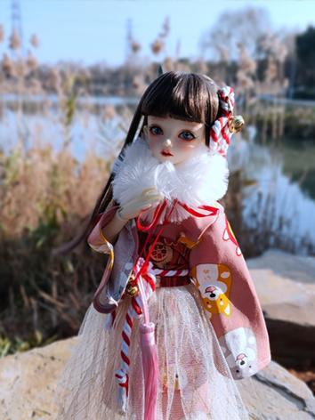 BJD Clothes Girl Pink&Red P...