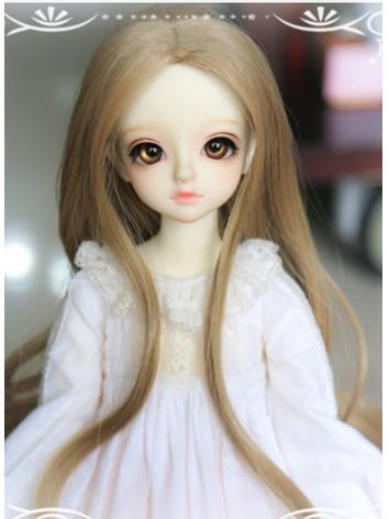BJD 1/4 Wig Girl Brown Long...