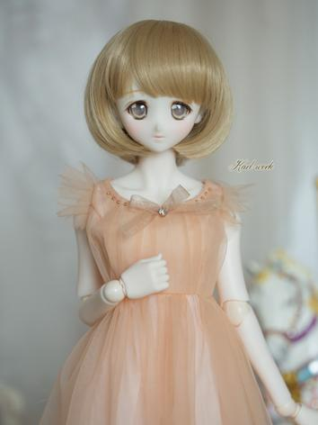 BJD 1/3 Wig Girl Gold Short...