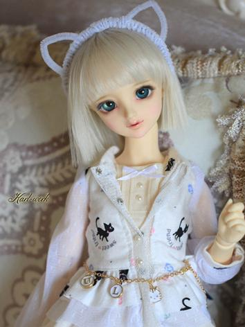 BJD 1/3 Wig Girl White Shor...