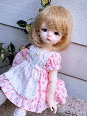 BJD Wig Girl Gold/Gray/Brown Short Hair for SD/MSD/YOSD Size Ball-jointed Doll