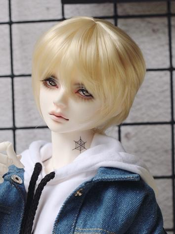 BJD Wig Boy Light Gold Short Hair Wig for MSD/YOSD Size Ball-jointed Doll