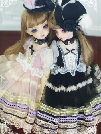 BJD Clothes Girl Black Dress Suit for SD Ball-jointed Doll