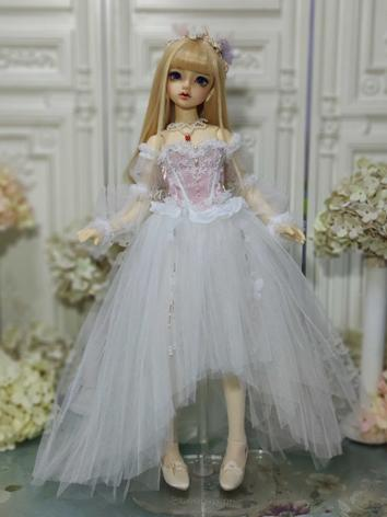 BJD Clothes Girl Pink&White Dress Suit for MSD/SD10/SD13/SD16 Ball-jointed Doll