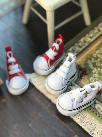 1/6 Shoes Girl/Boy Red/Whit...
