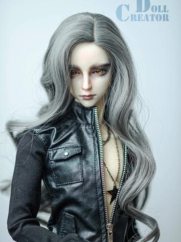 BJD Wig Boy/Girl Gray Long Hair for SD Size Ball-jointed Doll