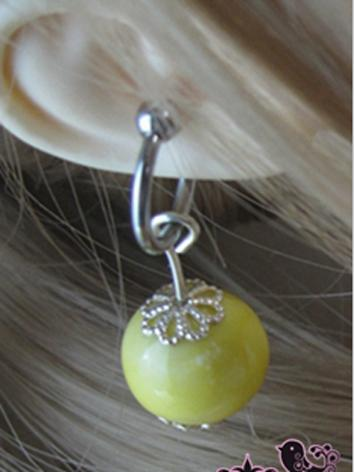 BJD Accessaries Green Earrings For MSD/SD/70CM Ball Jointed Doll