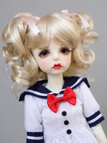 1/4 1/6 Wig Girl Gold Curly...