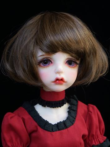 1/3 1/4 Wig Girl Brown Shor...