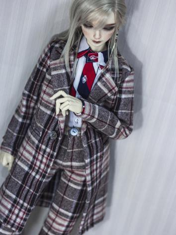 BJD Boy Clothes 1/4 1/3 70cm Brown Coat A308 for MSD/SD/70cm Size Ball-jointed Doll