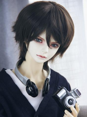 BJD Wig Boy Chocolate Short...