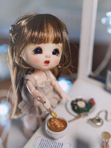 BJD Wig Girl Brown/Brown Lo...