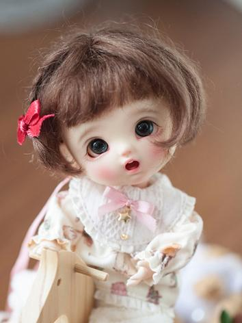 BJD Wig Girl Brown/Gold Hai...