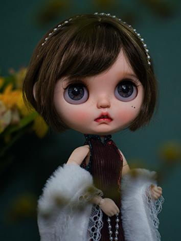 BJD Wig Girl Brown Hair Wig...