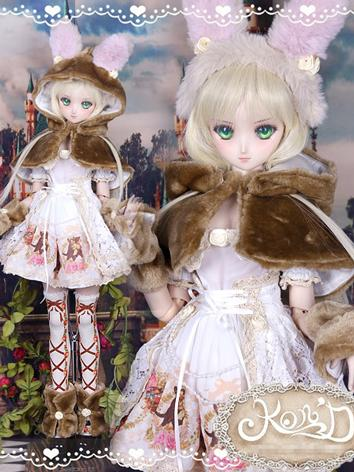 1/3 BJD Clothes Girl Pink D...