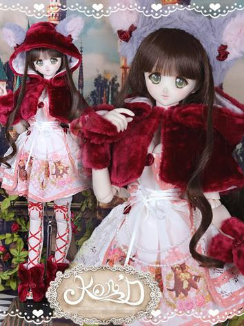 1/3 BJD Clothes Girl Red Dr...