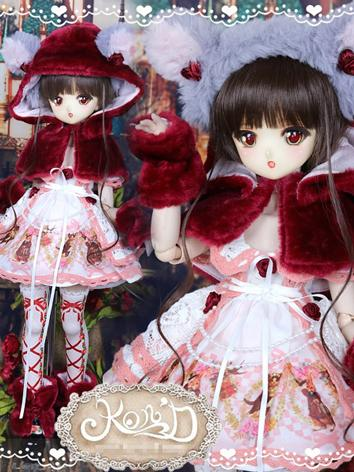 1/4 BJD Clothes Girl Red Dr...