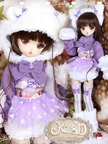 1/4 BJD Clothes Girl Purple...