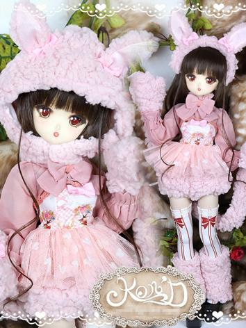1/4 BJD Clothes Girl Pink C...