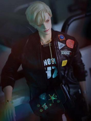 BJD Clothes Leather Jacket ...