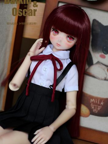 BJD Wig Girl Wine Long Stra...