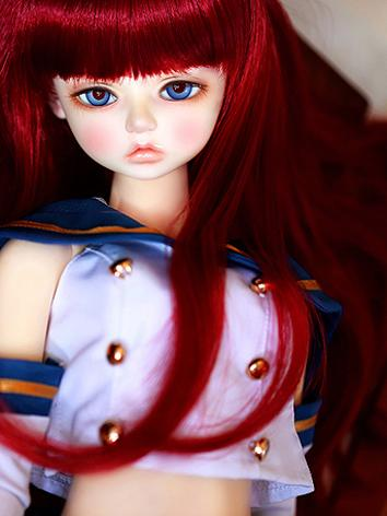 BJD Wig Girl Wine Long Curl...