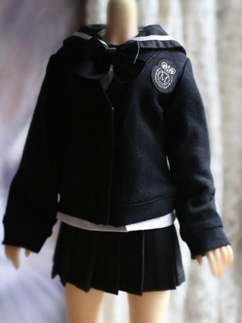 BJD Clothes Girl Black Coat...
