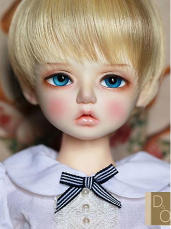 BJD Wig Girl Brown/Gold Sho...