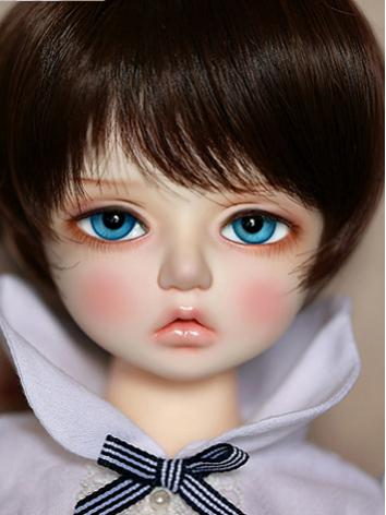 BJD Wig Girl Black&Wine/Bro...