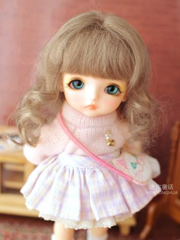 BJD Wig Girl Brown Long Hai...