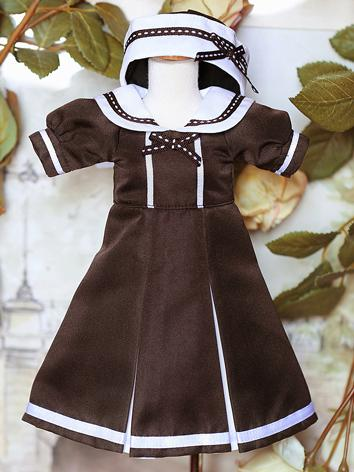 BJD Clothes Girl Gray Dress Outfit for DSD/MSD/YOSD size Ball-jointed Doll