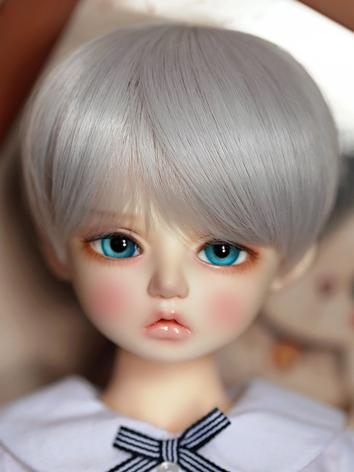 BJD Wig Girl Brown/Silver/B...