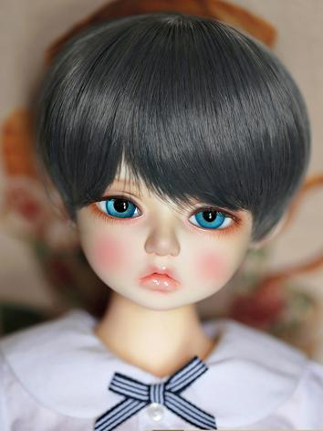 BJD Wig Girl Dark Blue/Blue...