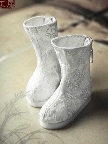 Bjd Shoes 1/6 White Antique...