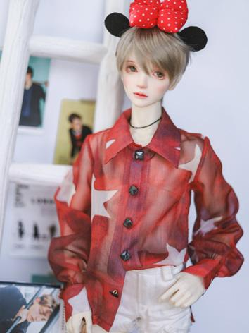 BJD 1/4 1/3 70cm Clothes Red&Pink Shirt A314 for MSD/SD/70cm Size Ball-jointed Doll