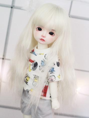 BJD Girl Wig Beige Long Cur...