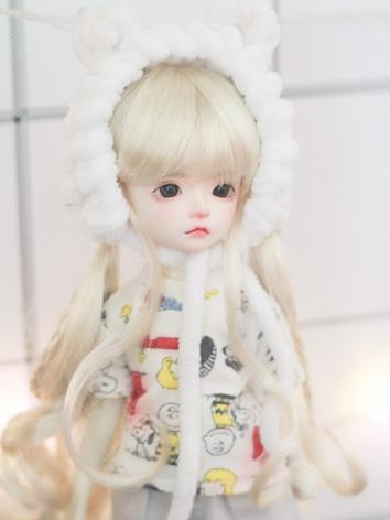 BJD Girl Wig Gold Long Curl...