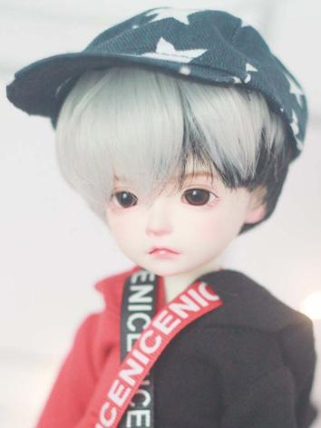 BJD Girl Wig Silver Short Hair Wig for SD/MSD/YOSD Size Ball-jointed Doll