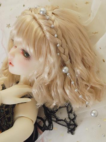 BJD Wig Girl Champagne Long...