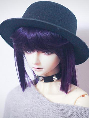BJD Wig Girl Purple Long Straight Hair Wig for SD/MSD/YOSD Size Ball-jointed Doll