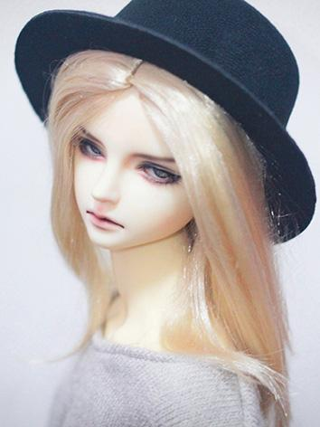BJD Wig Girl Gold Long Hair Wig for SD Size Ball-jointed Doll