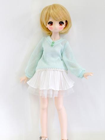 BJD Clothes Girl Blue T-shi...