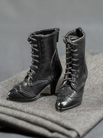 Bjd Shoes Girl Black High-h...