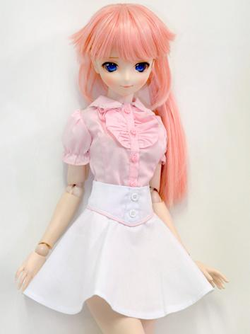 BJD Clothes Girl Pink Shirt...